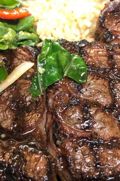 A steak.
